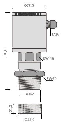 德国MuTec微波物位开关结构尺寸